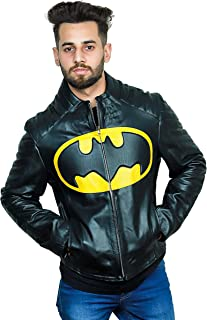 F&H Men's Synthetic Leather The Lego Batman Movie Will Arentt Cafe Racer Jacket