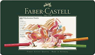 Faber-Castell Polychromos Pastel Crayons, Set of 60, (27-128560)