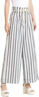 Iconic Women's 2091056 SS23STRPWIDL Woven Tapered Trousers, Cream
