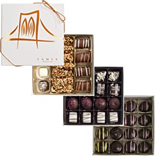 Assorted Holiday Chocolate Gift Set - 3 Artsian Crafted Chocolate Gift Boxes, 47 Pc