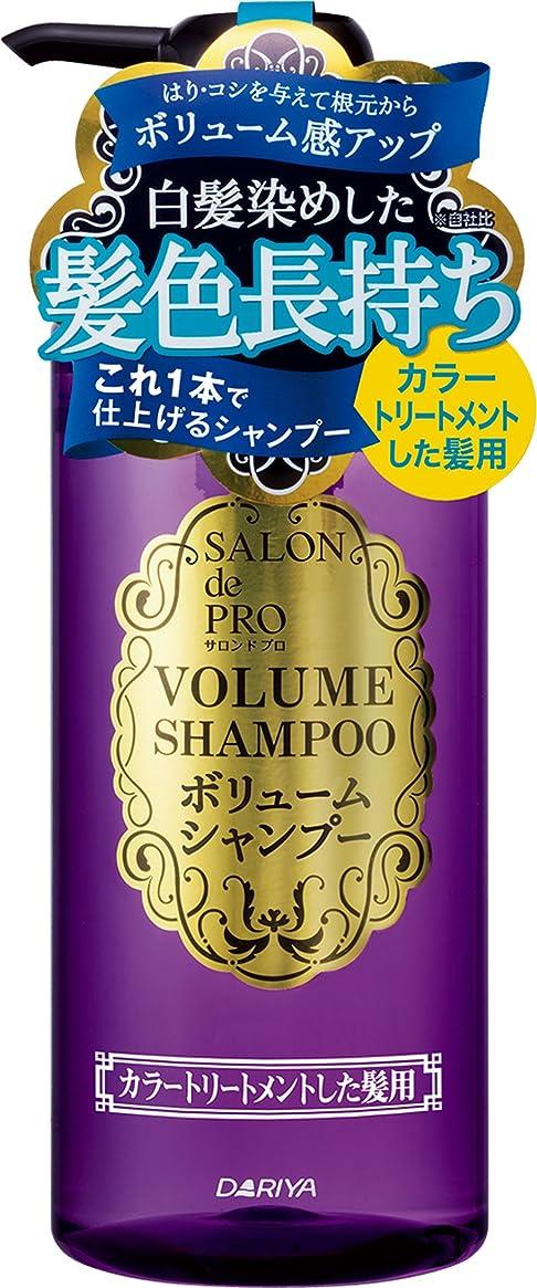 エールにおい抽出サロン ド プロ ボリュームシャンプー カラートリートメントした髪用 380ml
