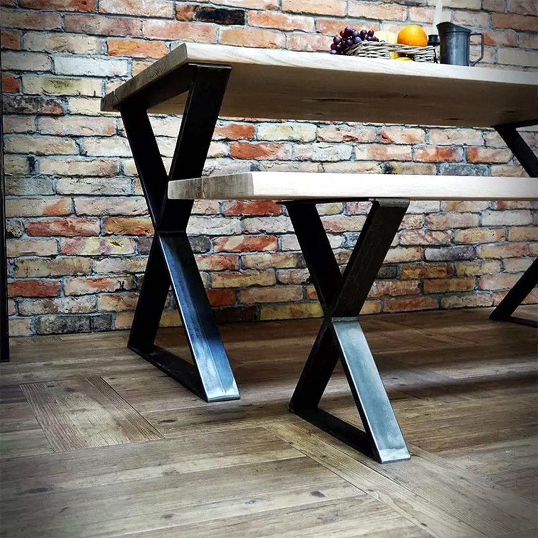 FURVOKIA 1-Pair Industrial Rustic Superior X Type St Decor DIY Metal Super sale period limited Legs