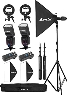 Osaka Camera Flash Speedlite Speedlight TT990 with inbuilt Radio Trigger and Transmitter for Nikon,Canon & All Other DSLR Cameras with Combo Pack with 60X60cms Soft Box and Light Stand