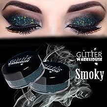 Smoky Gray - GlitterWarehouse Dark Gray Holographic Loose Glitter Powder for Eyeshadow, Makeup, Nail Art, Body Tattoo