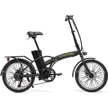BIWBIK Bicicleta ELECTRICA Plegable Book (Negro): Amazon.es ...