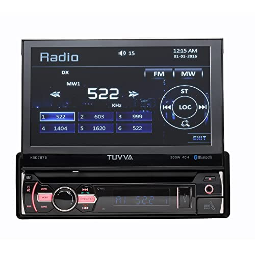 TUVVA KSD7875 In-Dash Car Multimedia Receiver, Bluetooth/ USB/ SD/ CD/ DVD/ AUX/ Rear Camera/ Remote Control/ **No RDS