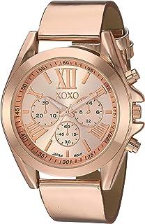 ساعة اكس او اكس او للنساء انالوج بعقارب ستانلس ستيل كوارتز مع حزام جلدي - ذهبي - 20.54 (XO3496)