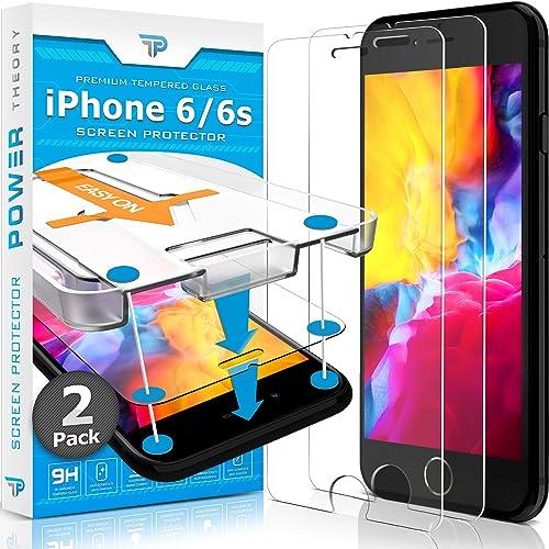 Power Theory Verre Trempé iPhone 6/ iPhone 6s - Protection Ecran [2 Pièces] Anti-Rayure, Film sans Bulles d'air, Vitr...