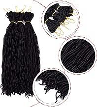 Silike Micro Curly Sister Lock Crochet Braids 20 Inch (30 Roots/Bundle,9 Bundles) Curly Faux Locs Soft Hair Mini Locs Curly Twist Braids For Beauty (1B)