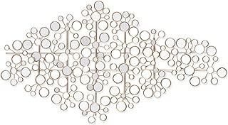 Southern Enterprises Oblishen Mirrored Metal Wall Sculpture - Art Deco Mirror - Hanging Art w/Metallic Finish