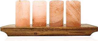 """UMAID Natural Himalayan Salt Shot Glasses Set of 4, With Rose Wooden Serving Board 3"""" Pink Salt Glasses -Tequila Shot Glasses, Kosher & FDA Approved 100% Pure Natural Pink Himalayan Salt"""