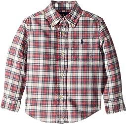 Plaid Cotton Oxford Shirt (Toddler)