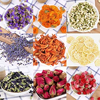 Oameusa Dried Flowers,Dried Flower Kit,Candle Making, Soap Making, AAA Food Grade-Pink Rose, Lavender,Rose Leaf,Don't Forget Me