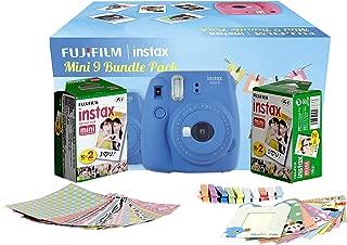 Fujifilm Instax Camera Mini 9 Bundle Pack with 40 Films Shot Free (Cobalt Blue)