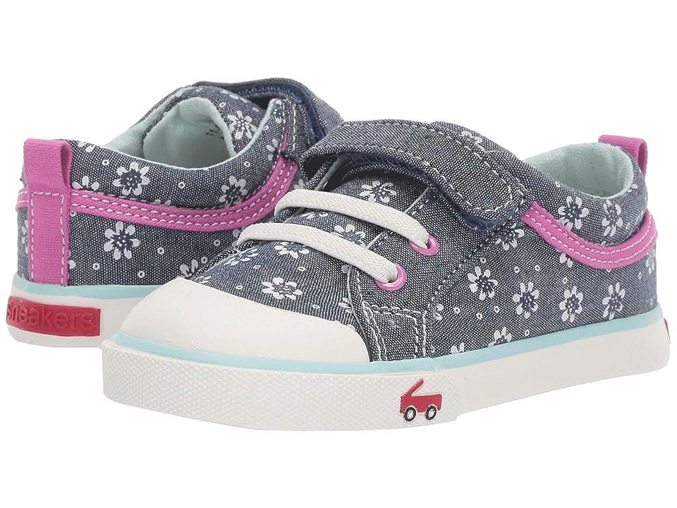 See Kai Run Kids Kristin (Toddler/Little Kid) (Chambray Flowers) Girls Shoes