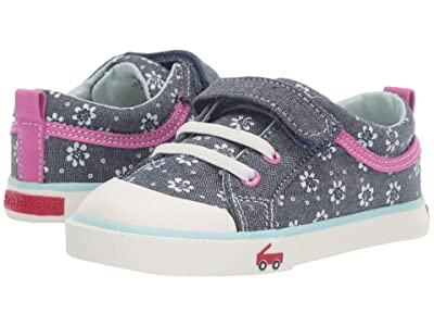 See Kai Run Kids Kristin (Toddler/Little Kid) (Chambray Flowers) Girls Shoes