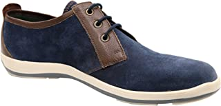 Andrew Fezza AF-S9607 Zac Plain Toe Oxford Suede Shoes Leather Trim