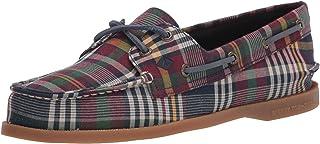 Sperry womens A/O 2 Eye Boat Shoe, Plaid, 5.5 US