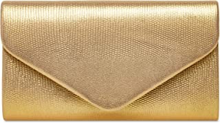 Caspar TA521 kleine elegante Snake Skin Damen Clutch Abendtasche