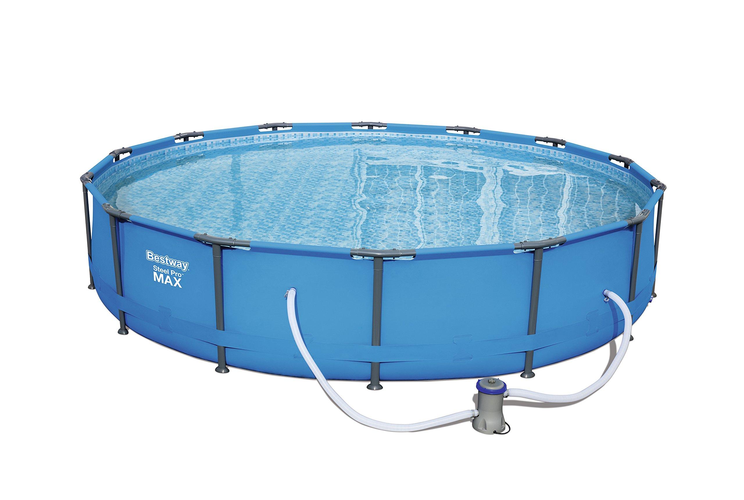 Bestway Steel Pro MAX - Piscina, 4678 litros, Azul, 305 x 305 x 76 ...