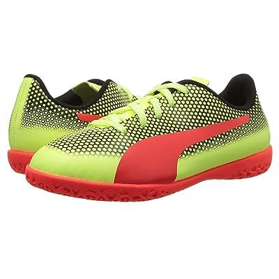 Puma Kids Spirit IT Soccer (Little Kid/Big Kid) (Fizzy Yellow/Red Blast/Puma Black) Kids Shoes