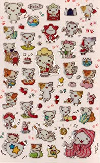 [DECO FAIRY] Cute Litte Cat Kitten Kitty Happy Life Style Stickers (50 Stickers)