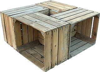 "4 Piezas sólido Cajas de madera ""Johanna"" Cajas"