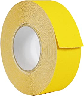 WOD NST-20C Strong Grip Yellow Anti Slip Tape Safety Track 60 Grit Non Skid Weather Proof Indoor & Outdoor Traction Tape No Slip (Available in Multiple Sizes & Colors): 2 in. x 60 ft.