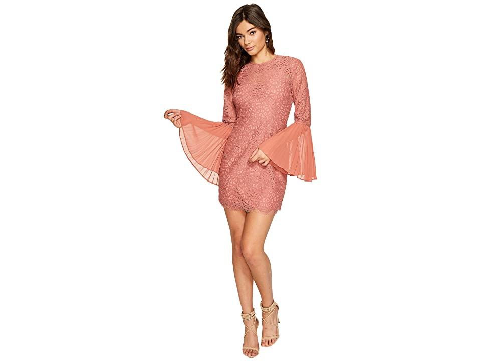 KEEPSAKE THE LABEL Be The One Long Sleeve Mini Dress (Cinnamon) Women