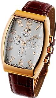 Pilo & Co - Reloj de cuarzo suizo cronógrafo para hombre colección P0128CHQGR
