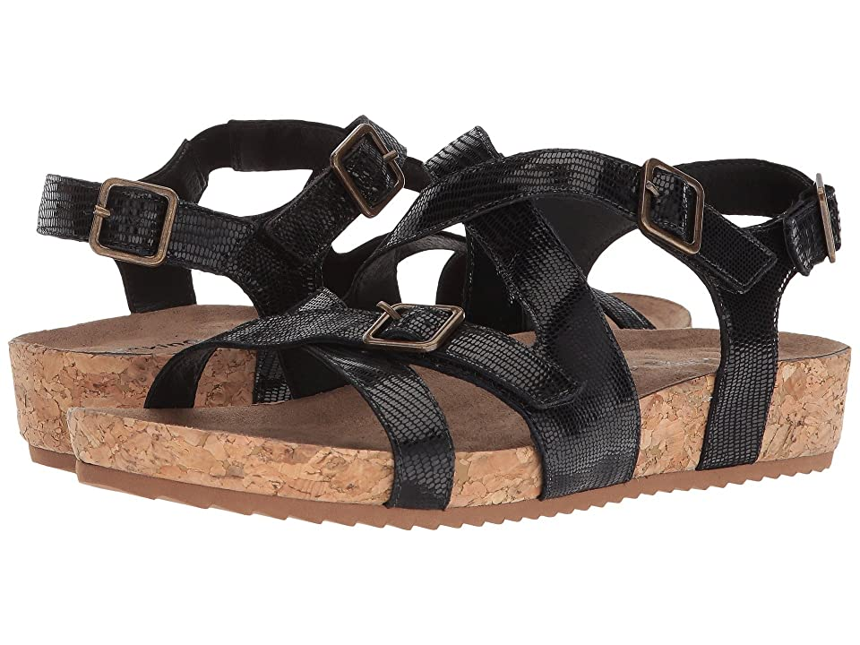 c2601fb37f1 Walking Cradles Pacific (Black Patent Lizard Print Leather) Women