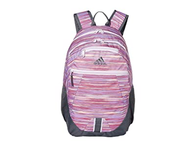 adidas Foundation V Backpack (Sunset Glory Pink/Onix/Grey/Purple Tint) Backpack Bags