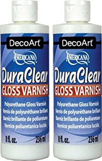 DecoArt DS19-9 American DuraClear Varnishes, 8-Ounce, DuraClear Gloss Varnish (Тwо Расk)