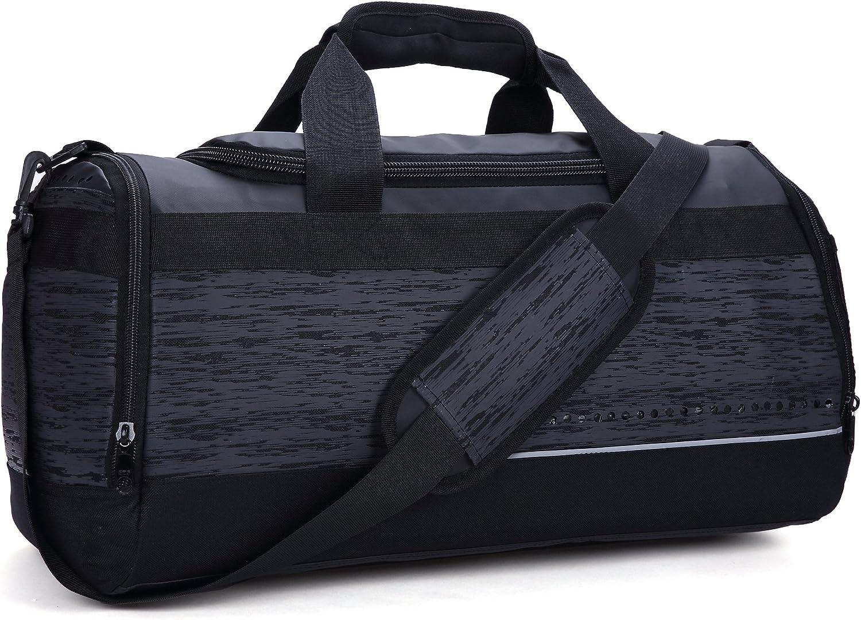 MIER 20 Inch Gym Bag with shoes Compartment Men Duffel Bag, Medium, Black