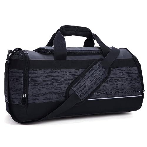 MIER 20 Inch Gym Bag with Shoe Compartment Men Duffel Bag
