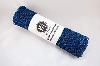 African Net Body Exfoliating Shower Scrubber/Exfoliating Back Scrubber/Skin Smoother/African Net Sponge - NAVY
