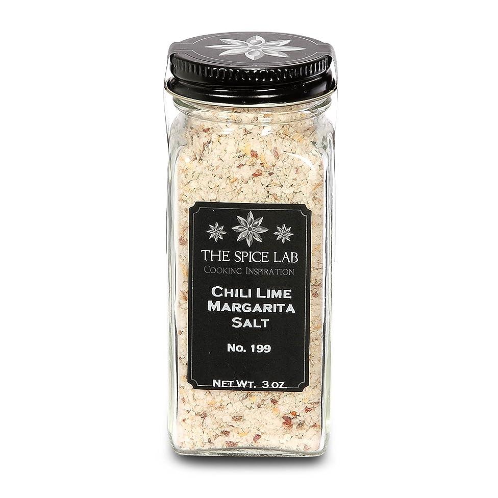 The Spice Lab No. 199 - Chili Lime Salt - Premium Gourmet Margarita Seasoning Salt - Gluten-Free Non-GMO All Natural Premium Gourmet Salt - French Jar