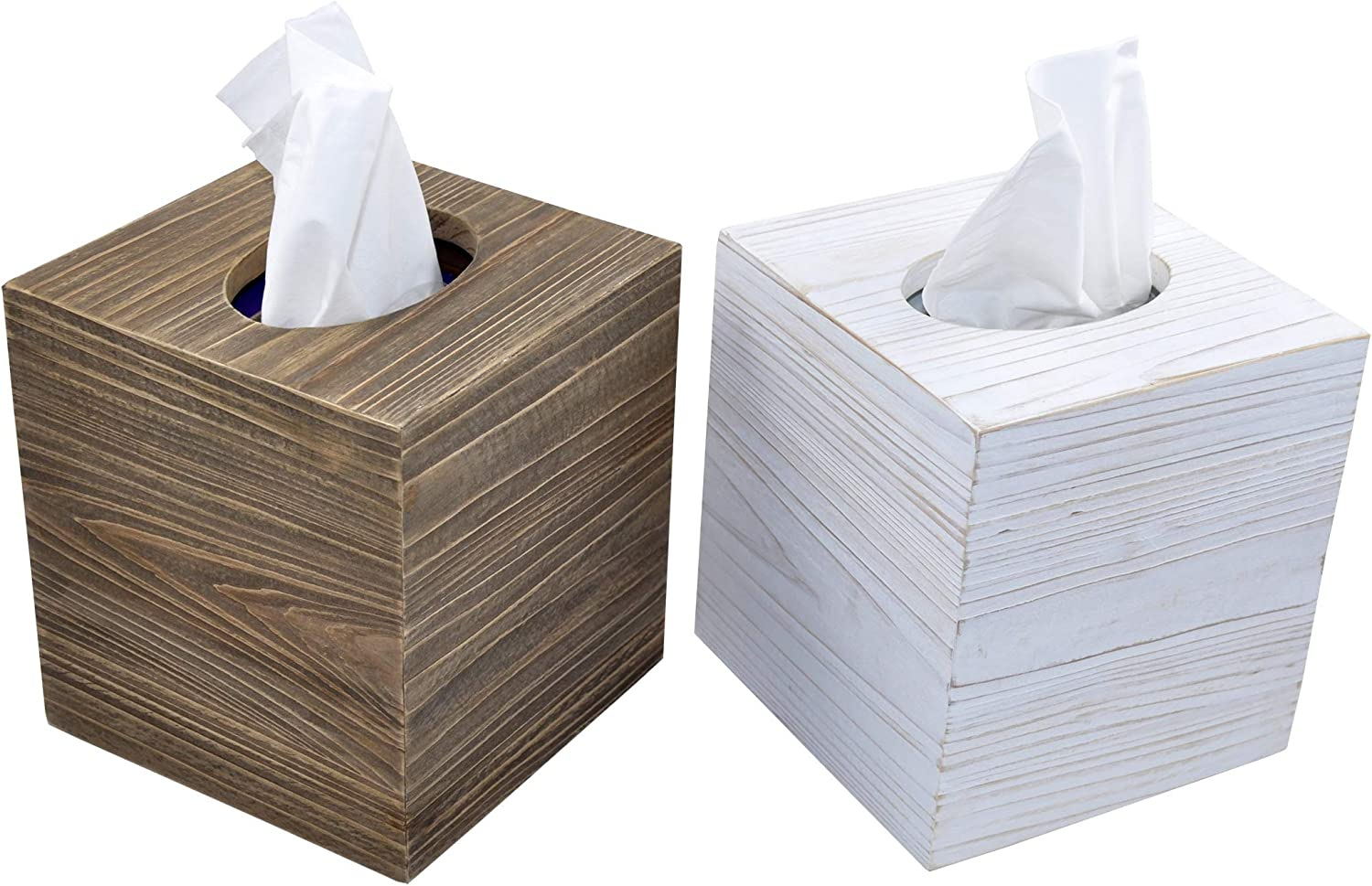 Spiretro Super Large Set of 2 Raleigh Mall Limited price sale Tissue Square Box Cover Wo Rustic