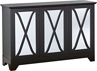 Target Marketing Systems Reflections Buffet/Console with Mirror, Black
