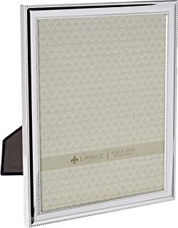 Lawrence Frames Metal Picture Frame Silver-Plate with Delicate Beading, 8 by 10-Inch