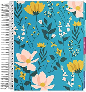 $35 » Sponsored Ad - Erin Condren 12 - Month 2021 Spanish Coiled Life Planner 7x9 (January - December 2021) - Wild Flowers Cover...