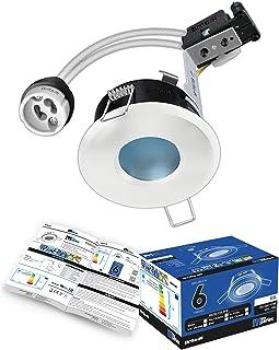 Spot LED encastrable pour salle de bain GU10 IP65 blanc Brite-R - En aluminium moulé sous pression - Indice de protection ...