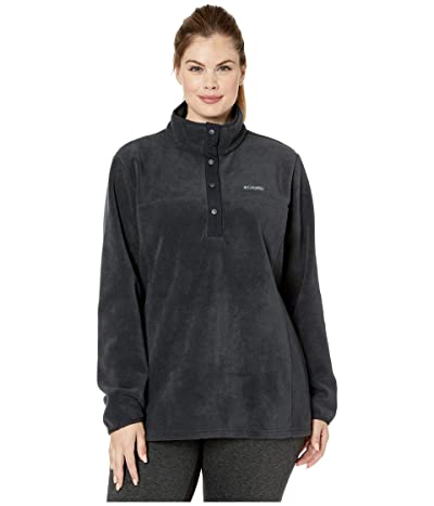 Columbia Plus Size Benton Springstm 12 Snap Pullover (Black) Women