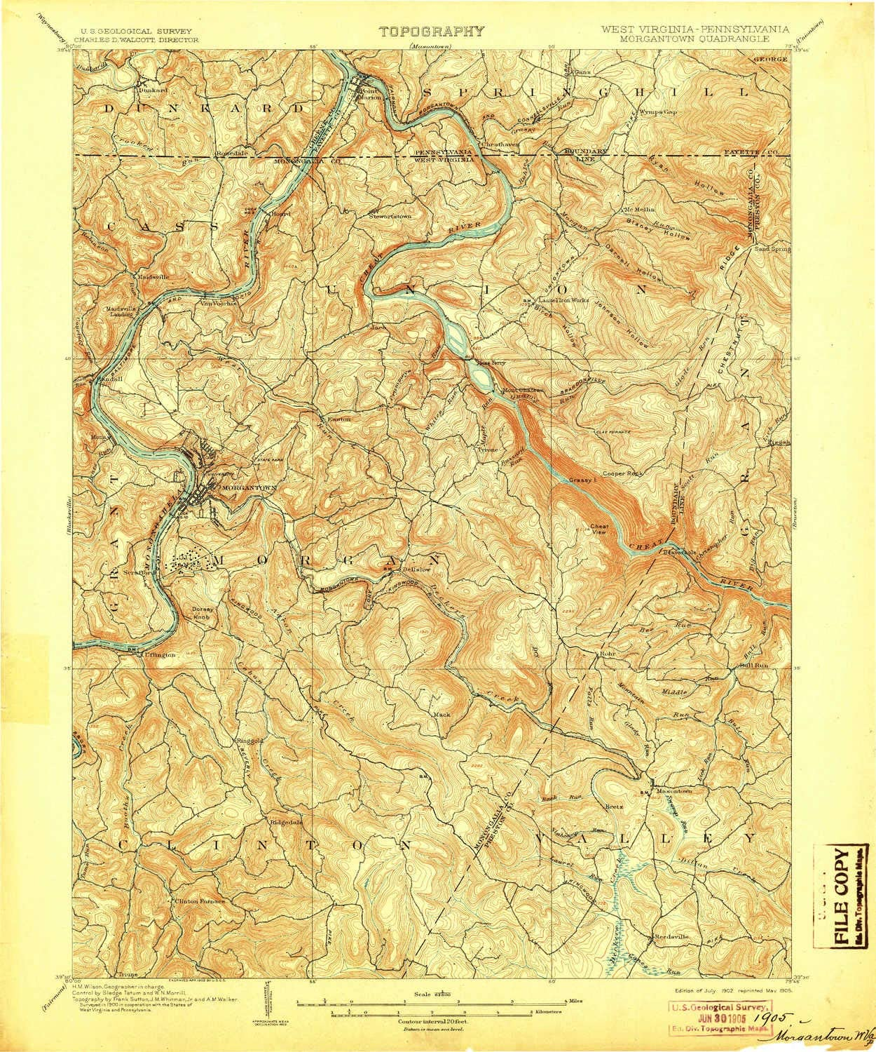 YellowMaps Morgantown WV topo map Oklahoma City Al sold out. Mall X 15 Minute 1:62500 Scale