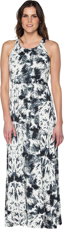 Neesha Cross Over Back Print Maxi Dress