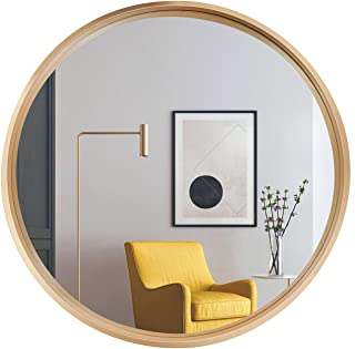 Sponsored Ad - Round Mirror Artwork Wall Decor :Champagne Gold Wall Mirrors Circle Decorative with Metal Frame for Bathroo...