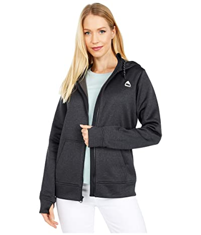 Burton Oak Full Zip Hoodie (True Black Heather 1) Women