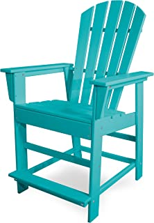 POLYWOOD SBD24AR South Beach Counter Chair, Aruba