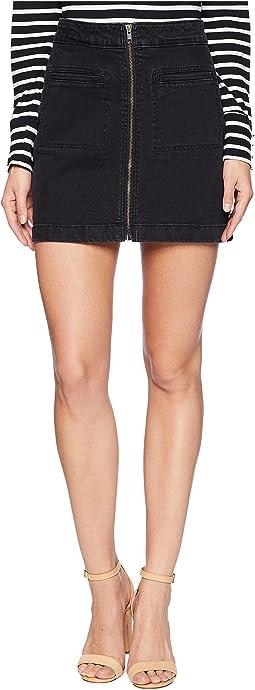 Street Direction Denim Skirt