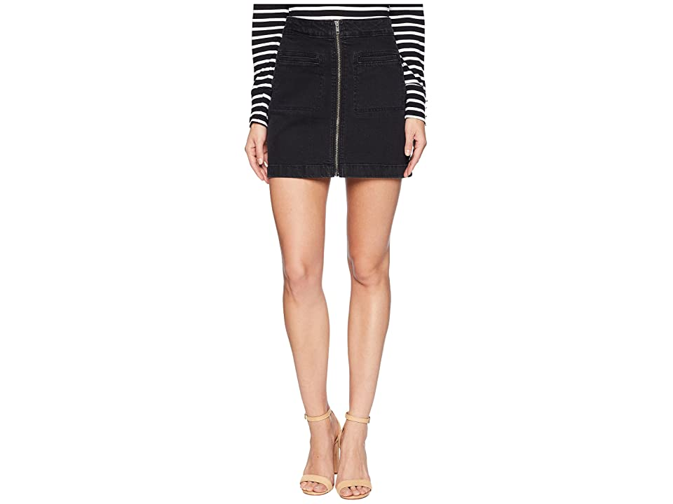 Roxy Street Direction Denim Skirt (Black) Women